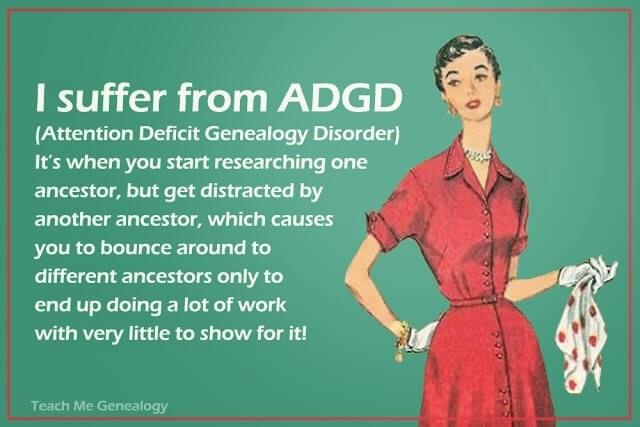 Meme Attention Deficit Genealogy Disorder