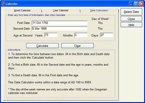 Legacy 8 Date Calculator