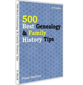 500 Best Genealogy Tips