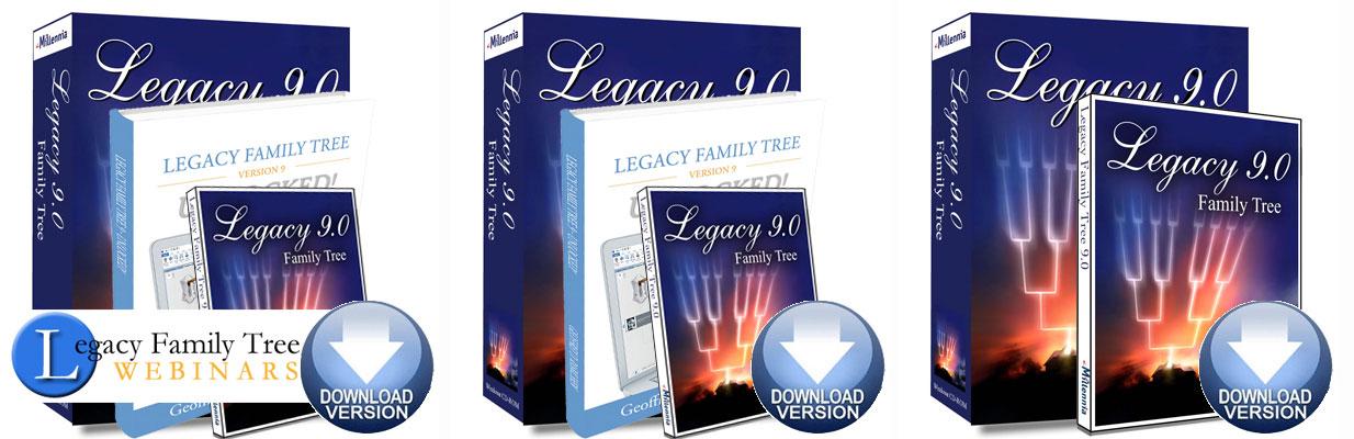 Legacy 9 Family Tree Software Bundle