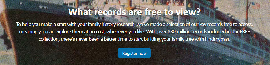 FindMyPast Free Records