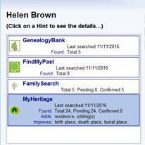 Legacy Family Tree - Hinting