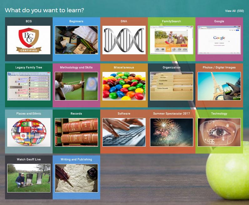 Legacy Family Tree Webinars - The Classes