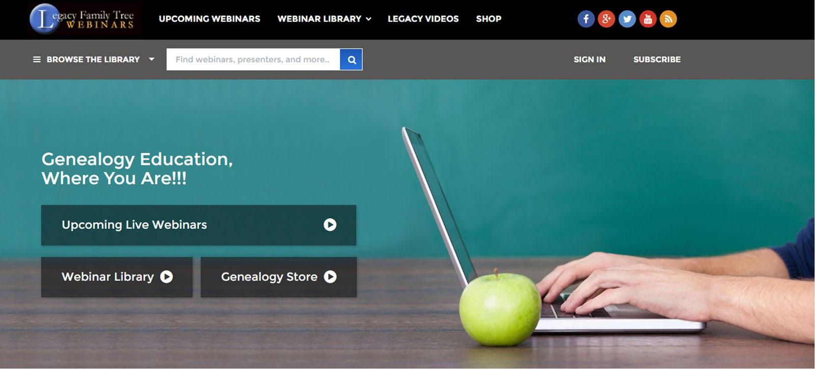 Legacy Family Tree Webinars Site
