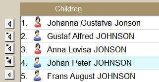 Ancestral Quest Child list