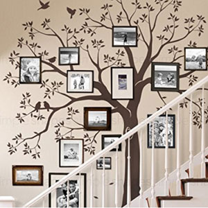 ... Family Tree Wall Decal Staircase By Simple Shapes ...