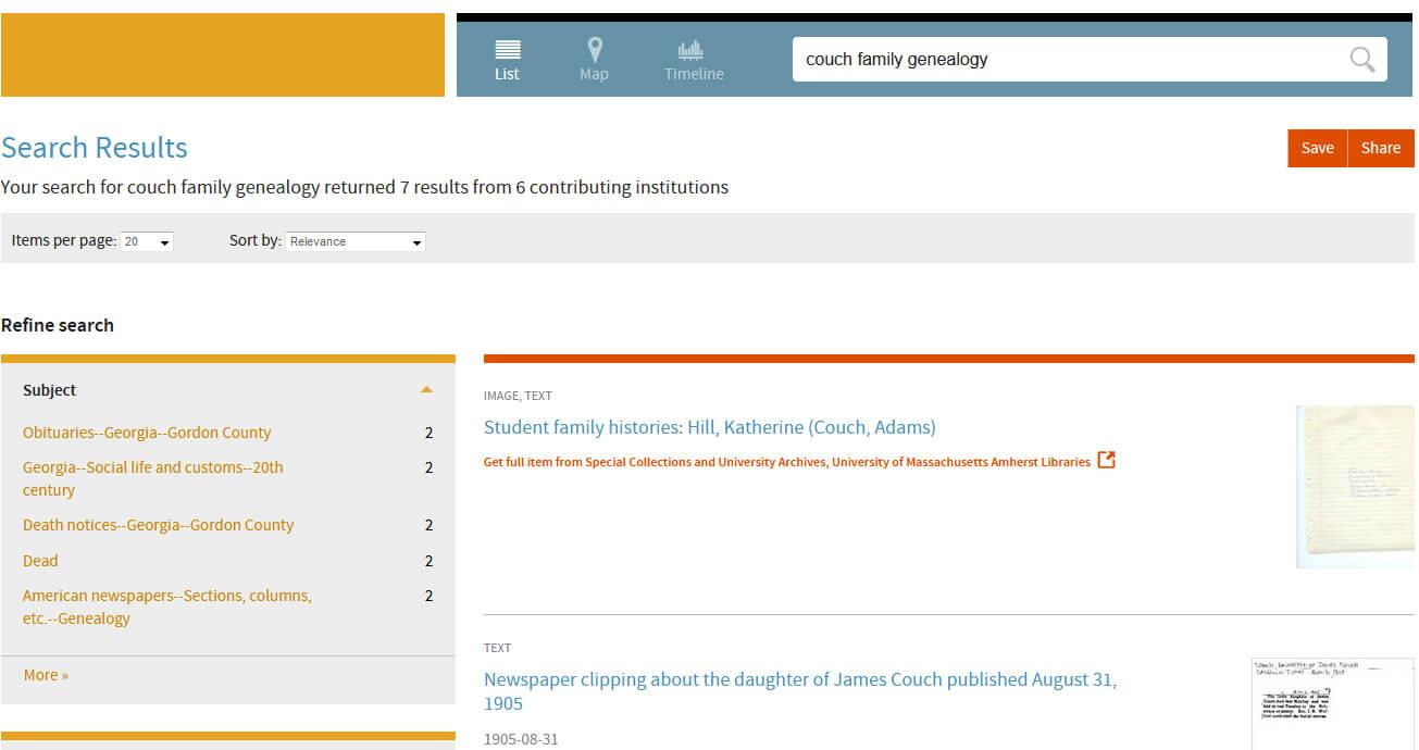 Digital Public Library of America Search