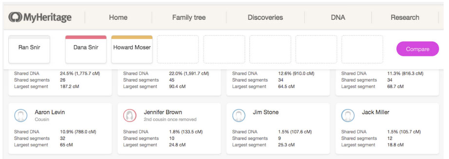 MyHeritage DNA Testing Review - Chromosome Browser