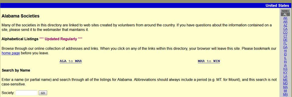 D'Addezio Alabama Societies