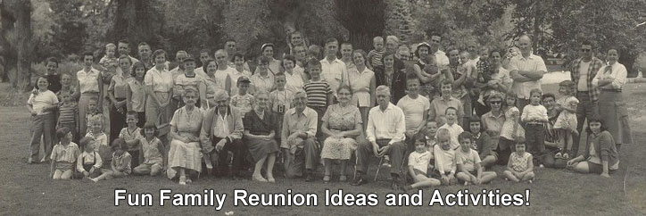 Family Reunion Ideas Activities