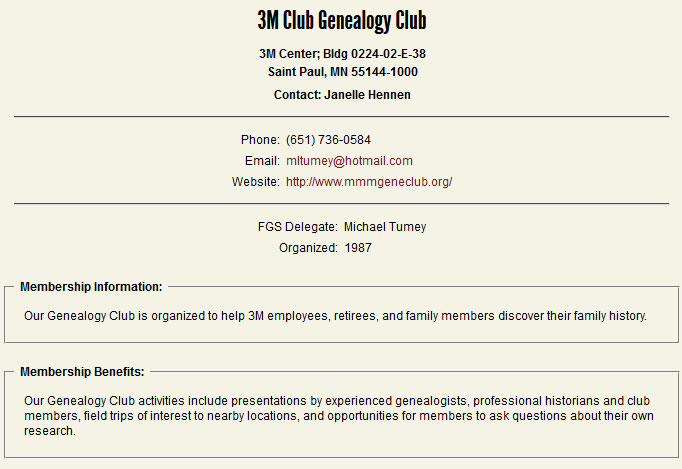 Federation of Genealogical Societies Details