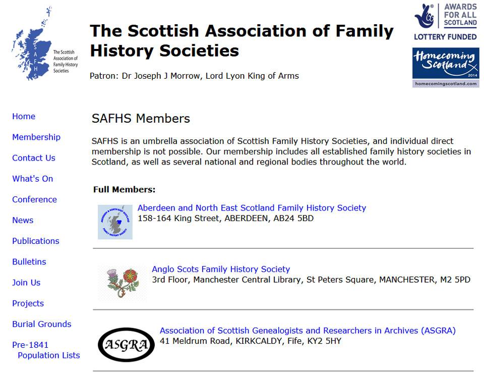 Scottish Association of Family History Societies