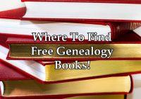 Free Genealogy Books