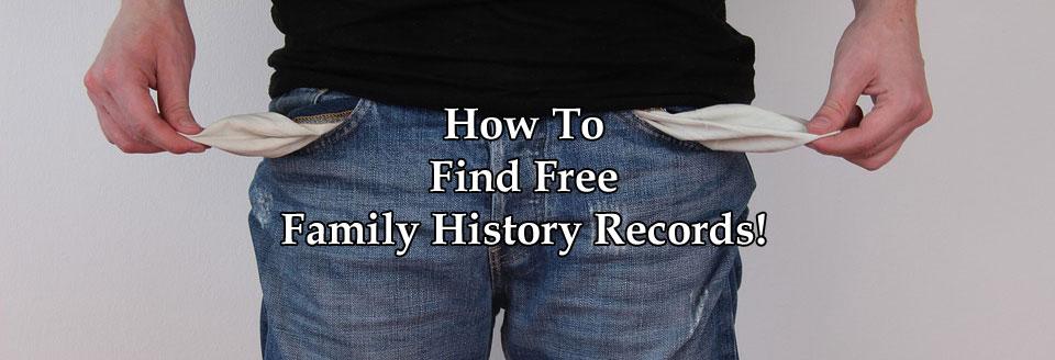 Free Family History Records