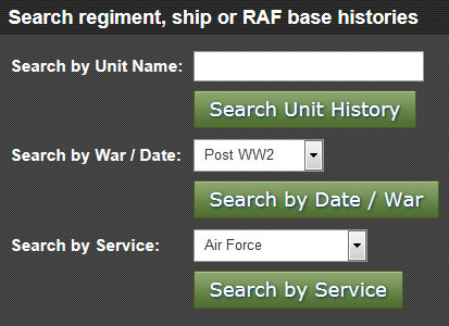Forces War Records Review - Search by Unit