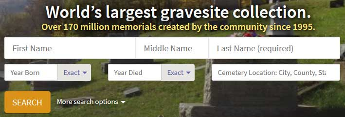 Find A Grave Website 2018 Review! - The Genealogy Guide